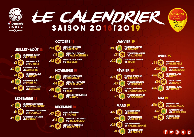 Calendrier Match Lens.Le Calendrier De La Saison 2018 2019 Est Disponible Us