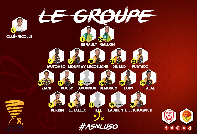 2ème tour CDL  AS Nancy Lorraine - US Orléans  (1-1 (3-5)) Groupe-USO-2