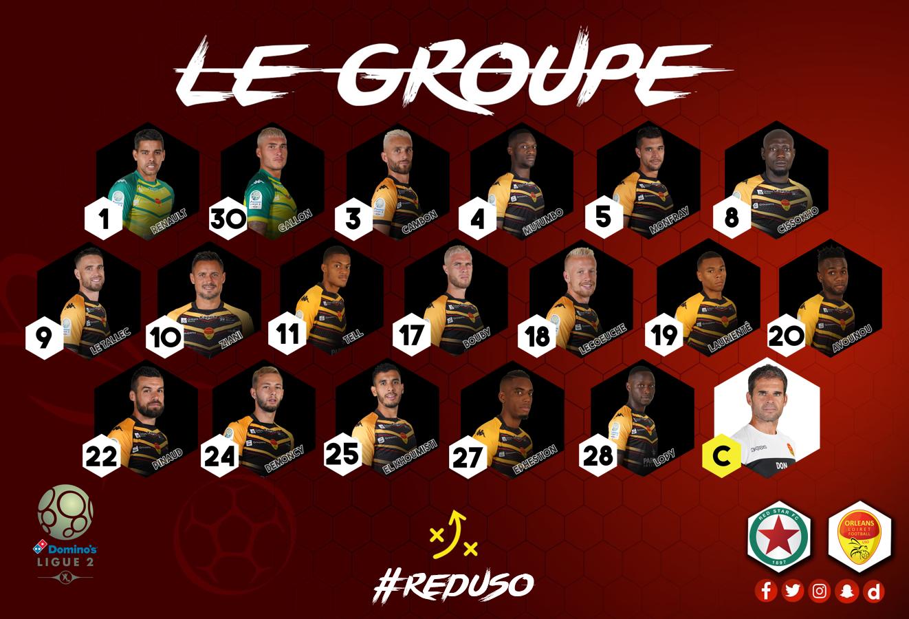12ème journée Red Star (19ème) - US Orléans (6ème)  (0-4) Groupe-USO-NV-2