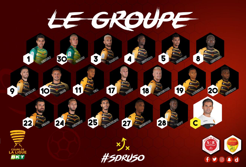16ème de finale de la CDL  Stade de Reims - US Orléans Groupe-USO-NV-3