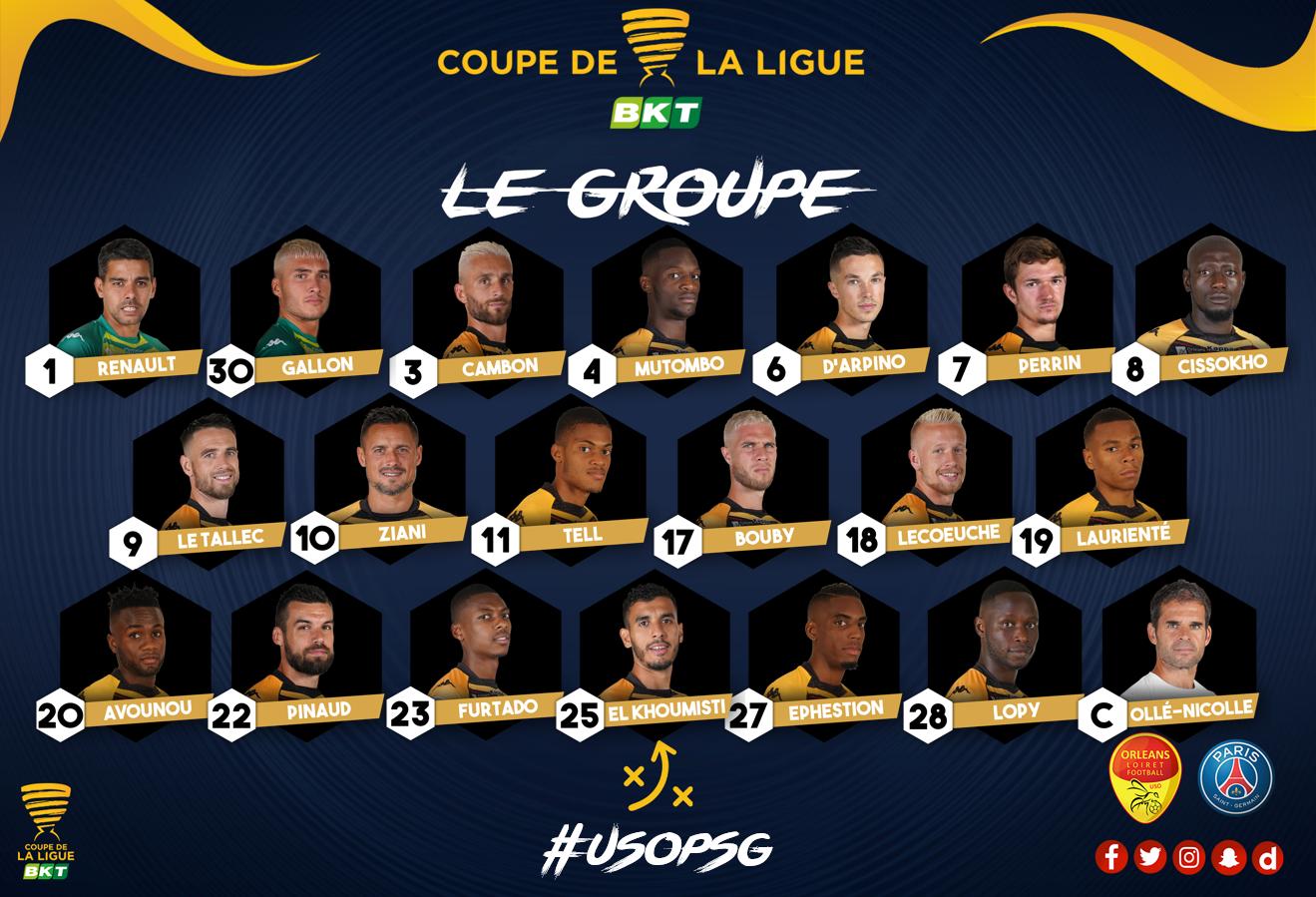 COUPE LE LA LIGUE 8 ème  US ORLEANS- PARIS SG - Page 3 Groupe-USO-NV-CDL