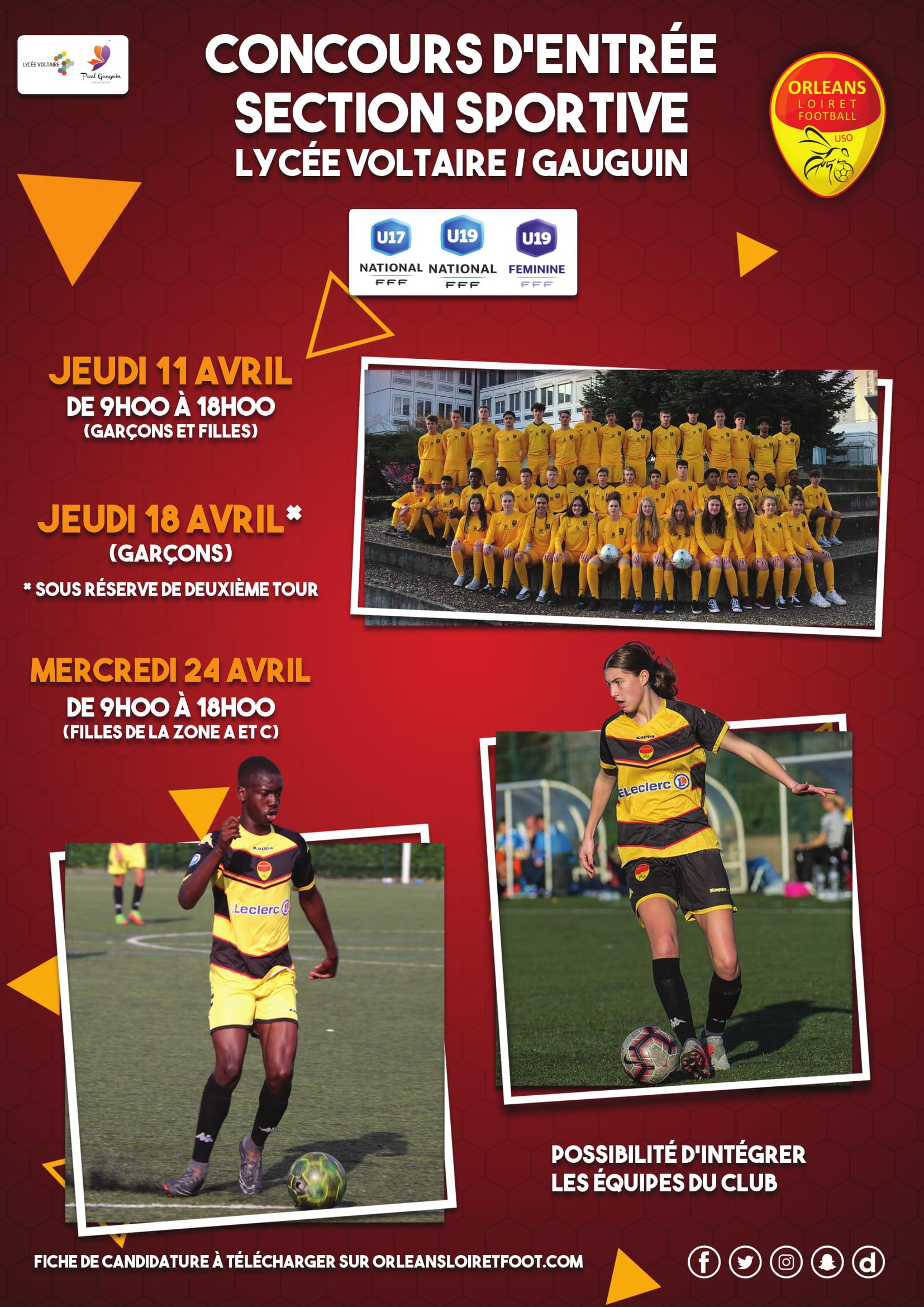 3415cf0d019 Dernières inscriptions   Concours d entrée à la section sportive Lycée  (filles et garçons)